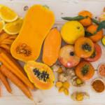 Cibi gialli e arancione